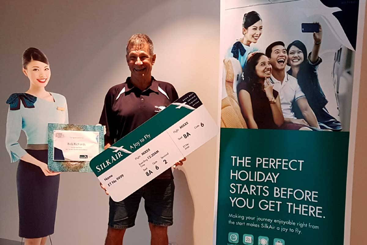 Bob Smith the winner of the SilkAir evaluation competition