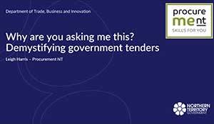 Why are you asking me this? Demystifying government tenders
