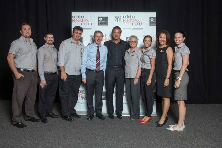 Platinum sponsors Area9 with Mark Bouris at the OBM 2014 Darwin official opening