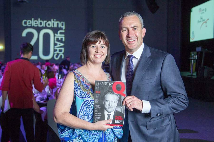Anya Lorimer, publisher of Territory Q magazine with Mark Beretta