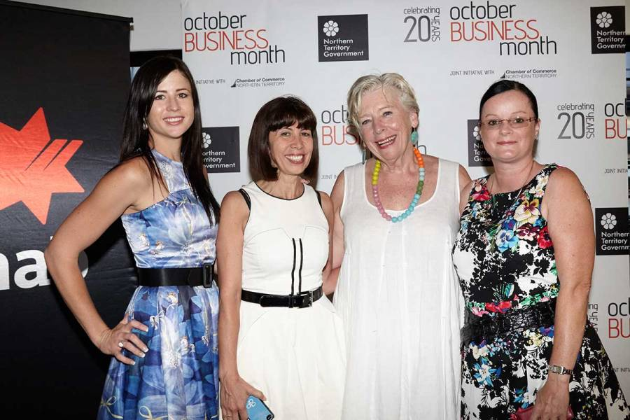 Maggie Beer with guests