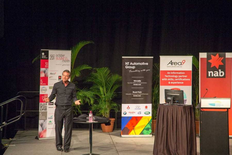OBM 2014 Darwin official opening with Mark Bouris