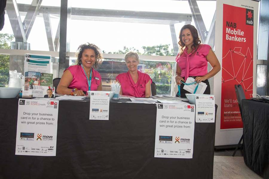 Department of Business staff at the OBM 2014 Darwin official opening
