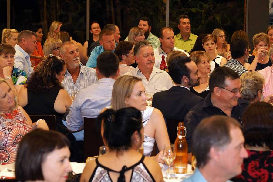 Attendees at the Katherine Gala Business Dinner with Lisa Messenger