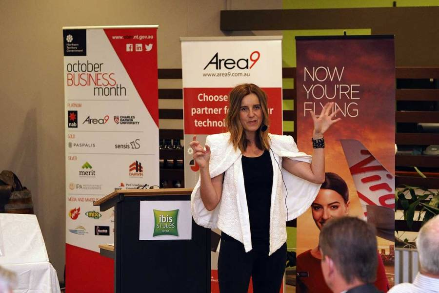 Lisa Messenger presenting Cultivating Self-Belief at the Katherine Business Dinner