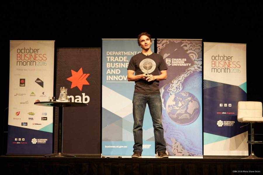 Todd Sampson keynote speaker at Darwin closing event