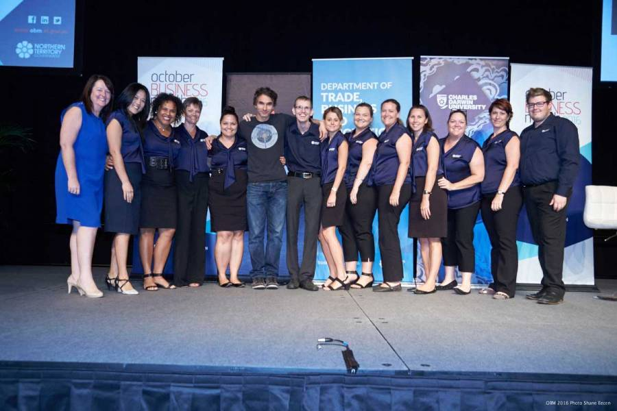 Todd Sampson keynote speaker and the 2016 OBM team