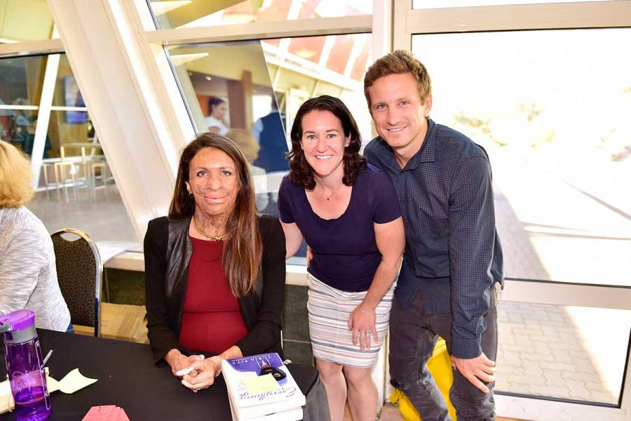 Book signing with Turia Pitt and partner Michael Hoskin