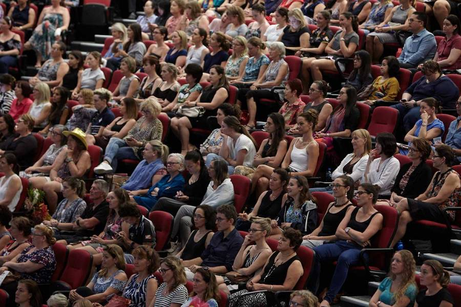 Attendees at the Darwin official opening featuring Turia Pitt