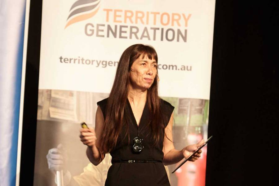 Territiory business success story Darlene Chin sharing her journey at the OBM Turia Pitt keynote event