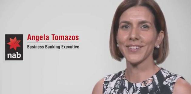 Headshot of Angela Tomazos, Business Banking Executive at NAB